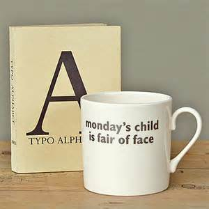 Big Tomato - Monday's Child Mug