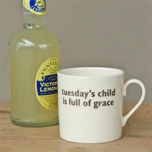 Big Tomato - Tuesday's Child Mug